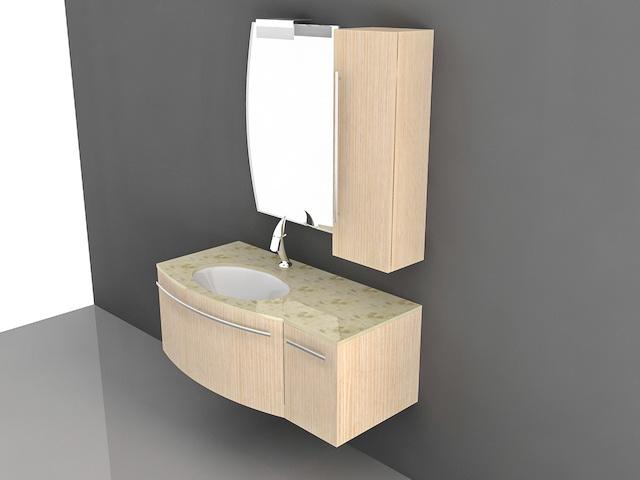 Bathroom Fixtures Dwg wall mount floating bathroom vanity 3d model 3d studio,3ds max