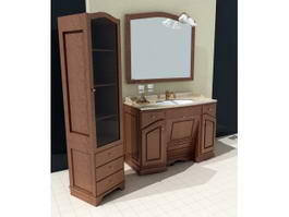 Vintage Bathroom Sink Vanities 3d model