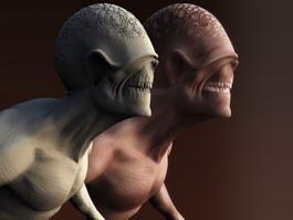 Humanoid Creature 3d model
