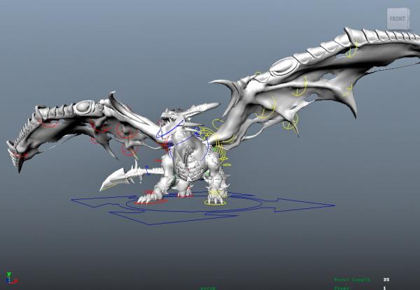 Dark Evil Dragon 3d model