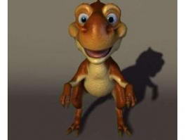 Cute Anime Dragon 3d model