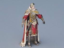 Medieval Guard Captain 3d model