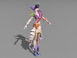 Human Female Sorceress 3d model