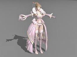 Beautiful Vintage Witch 3d model