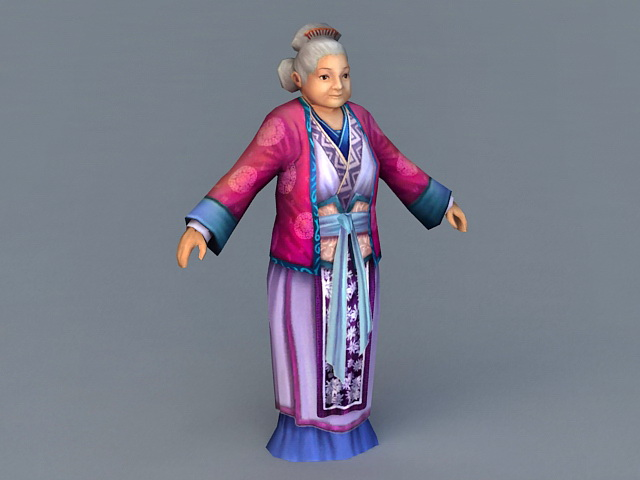 Medieval Old Woman 3d model 3ds Max files free download ...