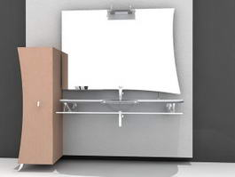 Wall Mount Bathroom Sink Vanity 3d model