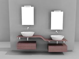 Art Deco Bathroom Vanities 3d model