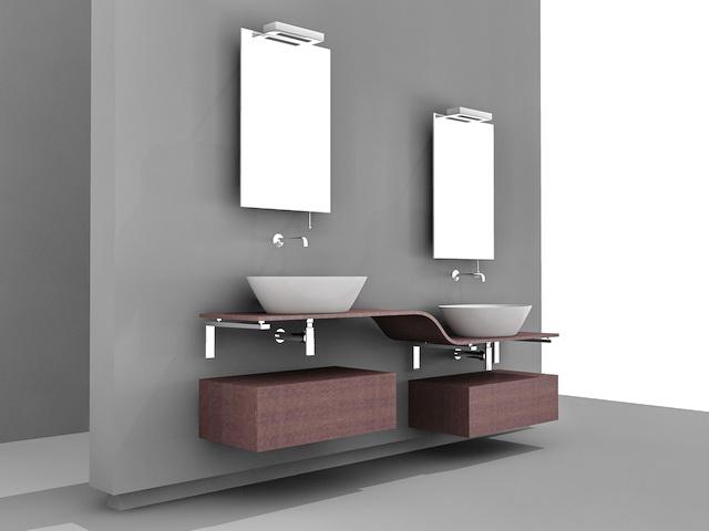 Art Deco Bathroom Vanities 3d Model 3d Studio 3ds Max Autocad Files Free Download Modeling
