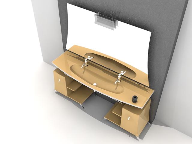 Orange Bathroom Vanity 3d Model 3d Studio 3ds Max Autocad Files Free Download Modeling 38774