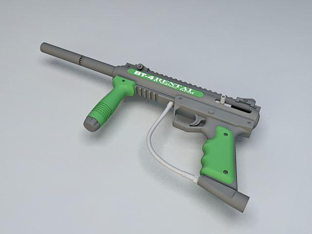 BT4 Paintball Gun 3d model