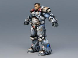 Future Armor Soldier 3d model