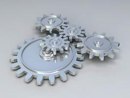 Mechanical Gears 3d model