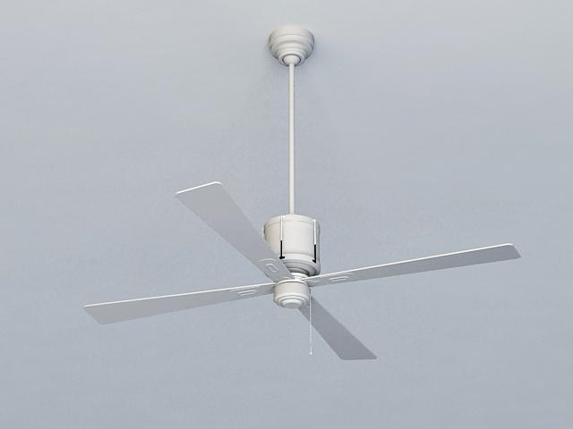 Industrial Style Ceiling Fan 3d model
