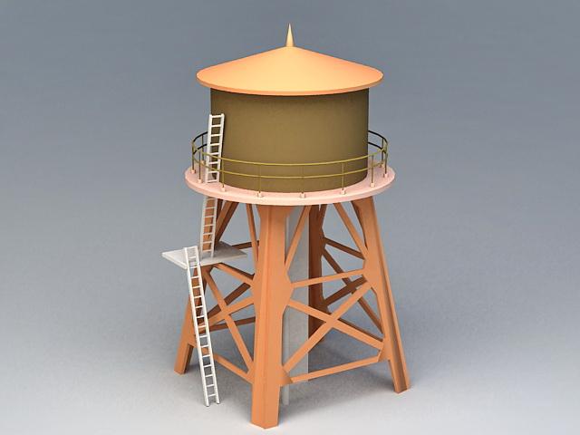 Water Storage Silo 3d model