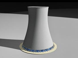 Power Station Cooling Tower 3d model