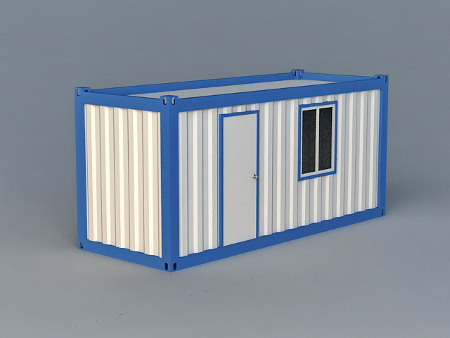Shipping Container Room 3d model