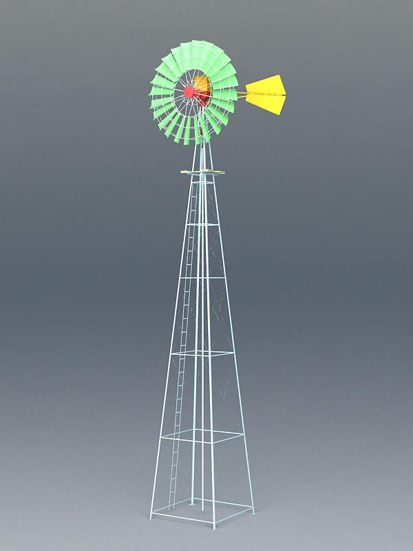 Cool Wind Turbine 3d model