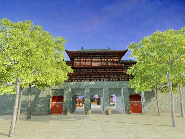 Ancient Chinese City 3d model