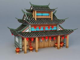Ancient Chinese Restaurant Building 3d model