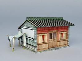 Ancient Chinese Cottage House 3d model