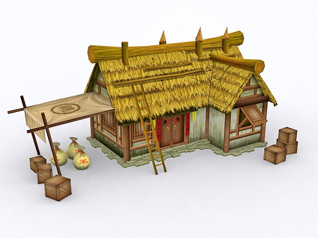 Historical Thatched Cottage 3d model