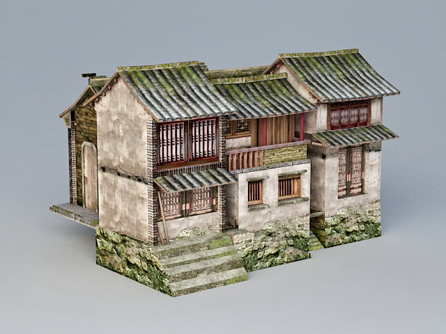 Ancient Chinese Inn Hotel 3d model