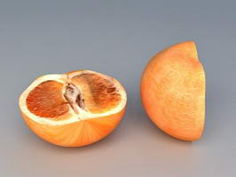 Grapefruit Half 3d model