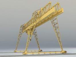 Overhead Crane 3d model