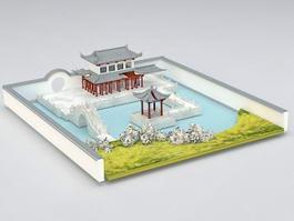 Chinese Garden Design 3d model