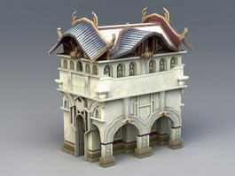 Medieval Town Building 3d model