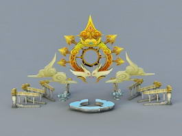 Fantasy Altar 3d model