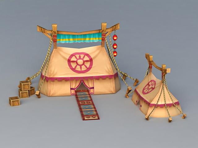 Ancient Military Tents 3d model & Ancient Military Tents 3d model 3ds Max files free download ...