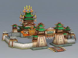 Fighting Game Arena 3d model