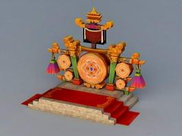 Ancient Podium 3d model