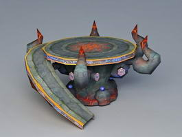 Mystical Sacrificial Altar 3d model
