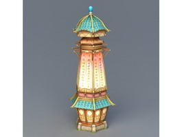 Small Magical Pagoda 3d model
