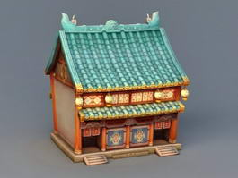 Anime Ancient Building 3d model
