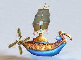 Anime Flying Ship 3d model