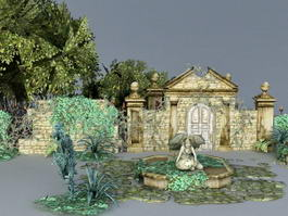Garden Ruins 3d model