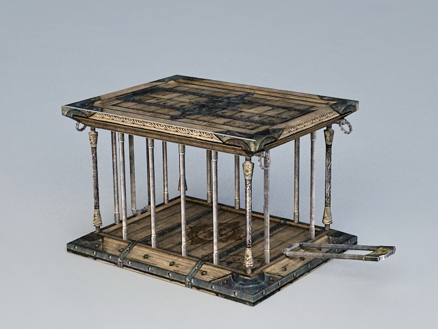 Ancient Animal Cage 3d model
