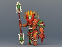 Barbarian Warrior Concept 3d model