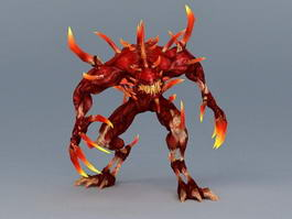 Lava Monster Concept 3d model