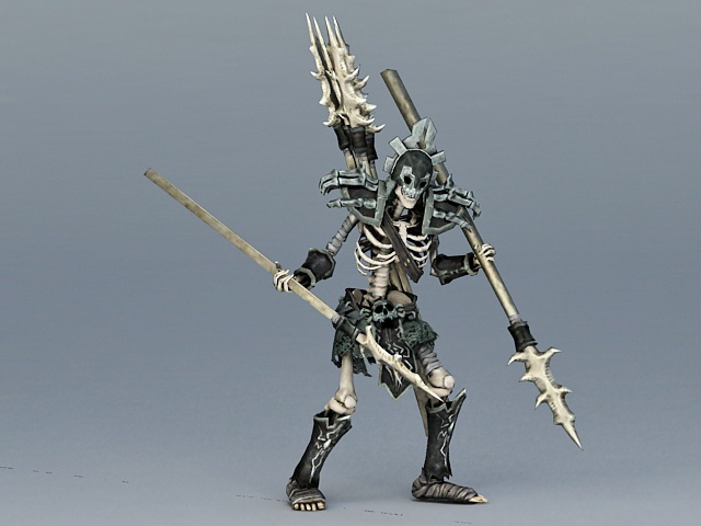 Undead Skeleton Spearman 3d model