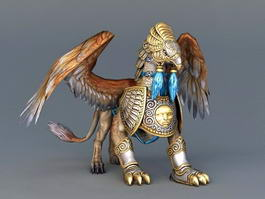 Battle Griffin Animal 3d model