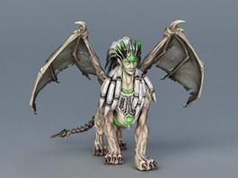 Winged Sphinx Monster 3d model