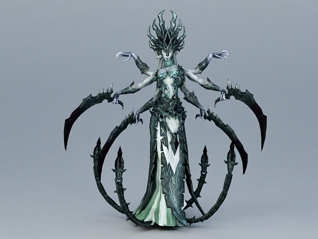 Female Monster 3d Model 3ds Max Files Free Download