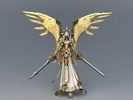 Female Warrior Angel 3d model