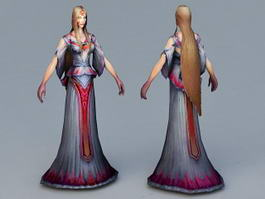 Beautiful Ghost Woman 3d model