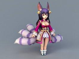 Chibi Fox Girl 3d model