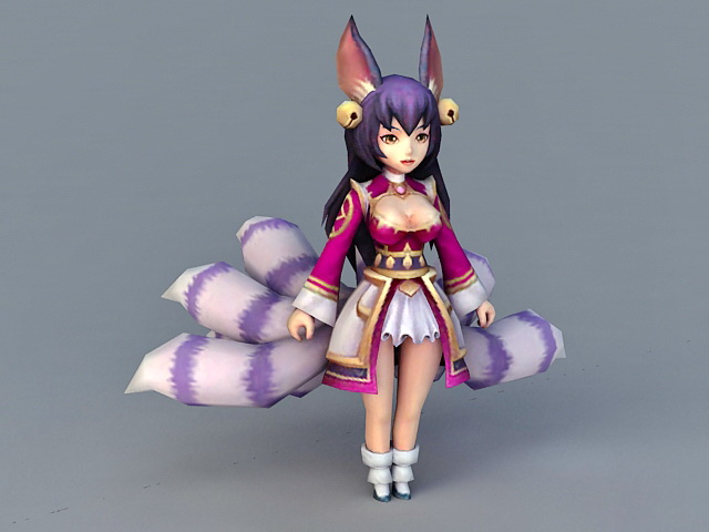 Chibi Fox Girl 3D Model